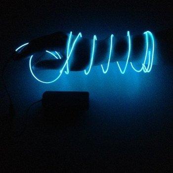 GlowFactory EL Wire 2 meter - Blauw