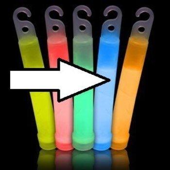 GlowFactory Glowstick 10 x 1 cm - Oranje