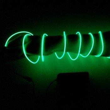 GlowFactory EL Wire 2 meter - Groen