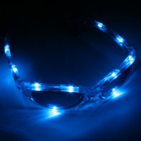 LED Glasses Blue / Light Up Glasses Blue (Bulk)