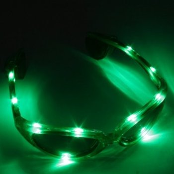 GlowFactory LED Glasses Green  / Light Up Glasses Green
