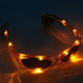 GlowFactory LED Glasses Yellow / Light Up Glasses Yellow