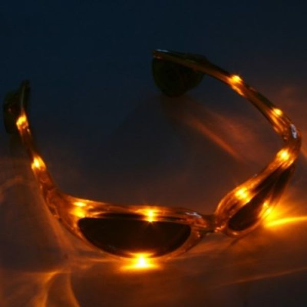 LED Glasses Yellow / Light Up Glasses Yellow
