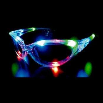 GlowFactory LED Glasses Multi Colour / Light Up Glasses Multi Colour