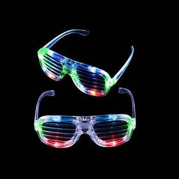 GlowFactory LED Bril Shutter model - Multi Color