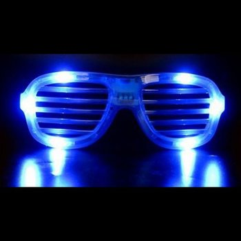 LED Shutter Glasses Blue