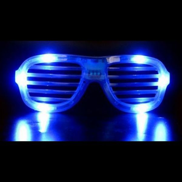 LED Shutter Glasses Blue / Light Up Shutter Glasses Blue