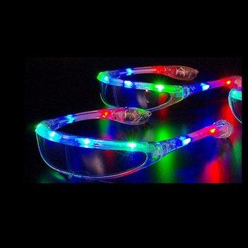 GlowFactory LED Glasses Ski Multi Colour