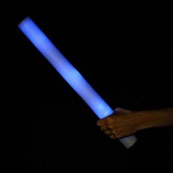 LED-Schaumstoffstäbe blau / Leuchtende Schaumstoffstäbe blau