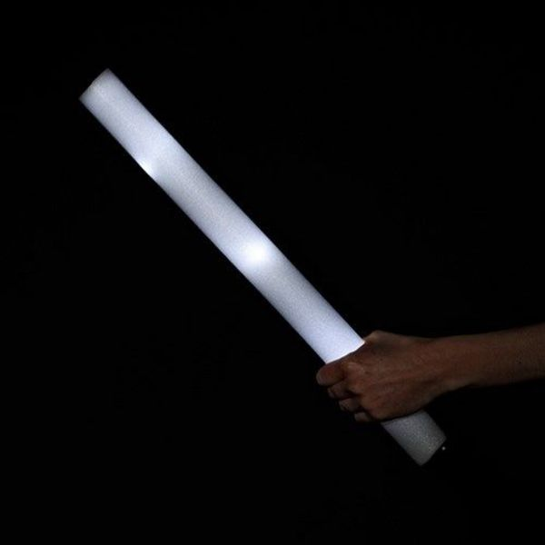LED Foam Sticks White / Glow Foam Sticks White (Bulk)