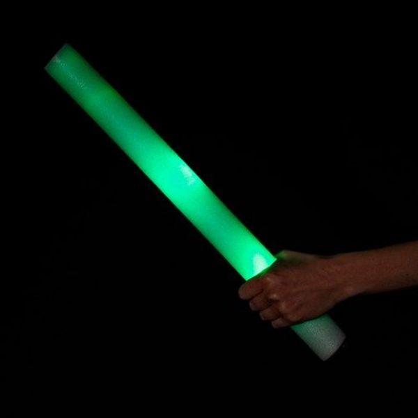 LED-Schaumstoffstäbe grün / Leuchtende Schaumstoffstäbe grün (bulk)