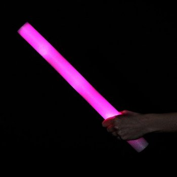 LED-Schaumstoffstäbe pink / Leuchtende Schaumstoffstäbe pink