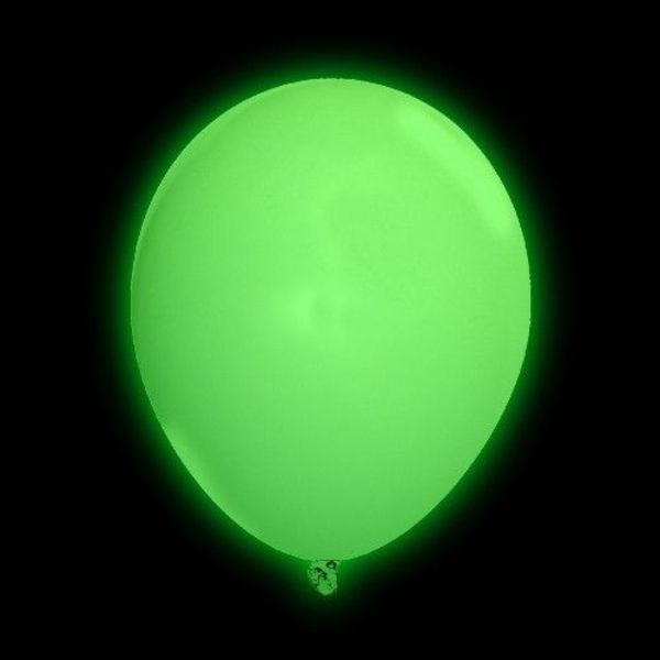 Light Up Balloon Green (Bulk)