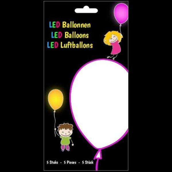 GlowFactory LED Luftballons Weiß