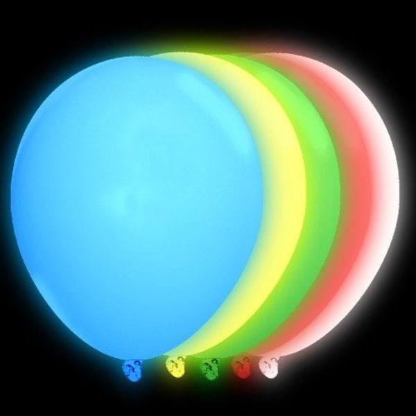 Light Up Balloons Mixed Colours (Bulk)