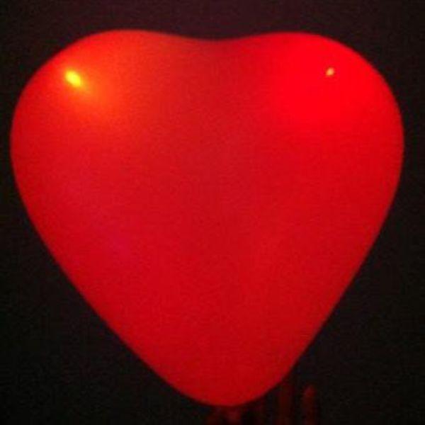 GlowFactory Light Up Heart Shaped Balloons Red