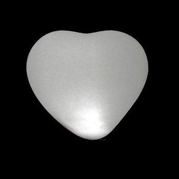 GlowFactory Light Up Heart Shaped Balloons White