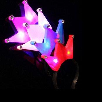 Haarreif mit leuchtender Krone / LED-Haarreif mit Krone in verschiedenen Farben