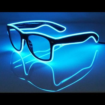 Light Up EL-Wire-Leuchtbrille blau