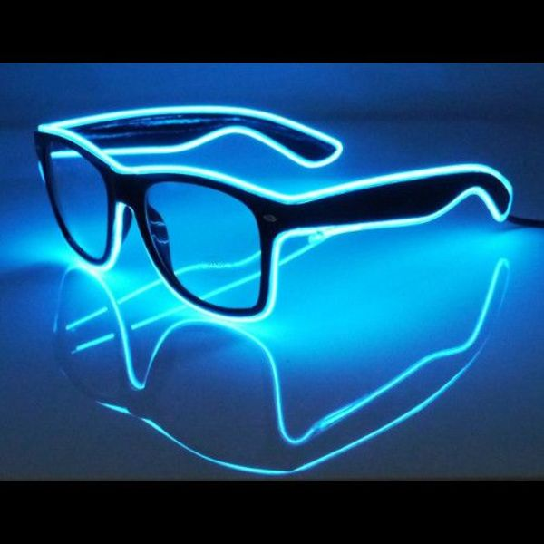 Light Up EL-Wire-Leuchtbrille blau (bulk)