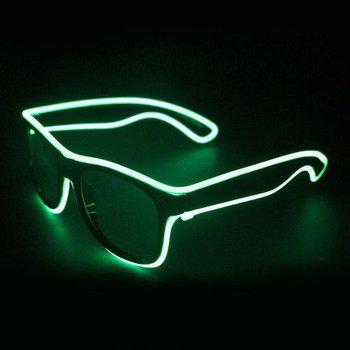 GlowFactory EL Wire Bril Groen