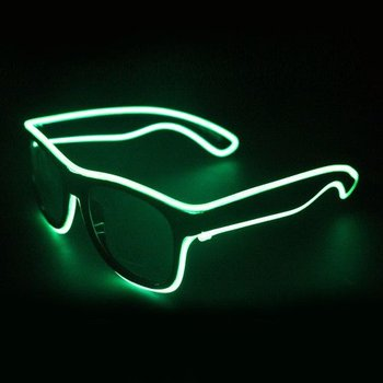 GlowFactory Light Up EL Wire Glasses Green