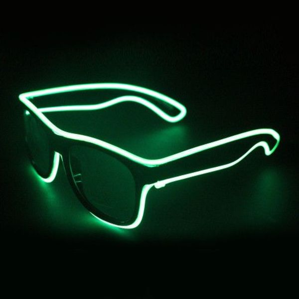 Light Up EL Wire Glasses Green
