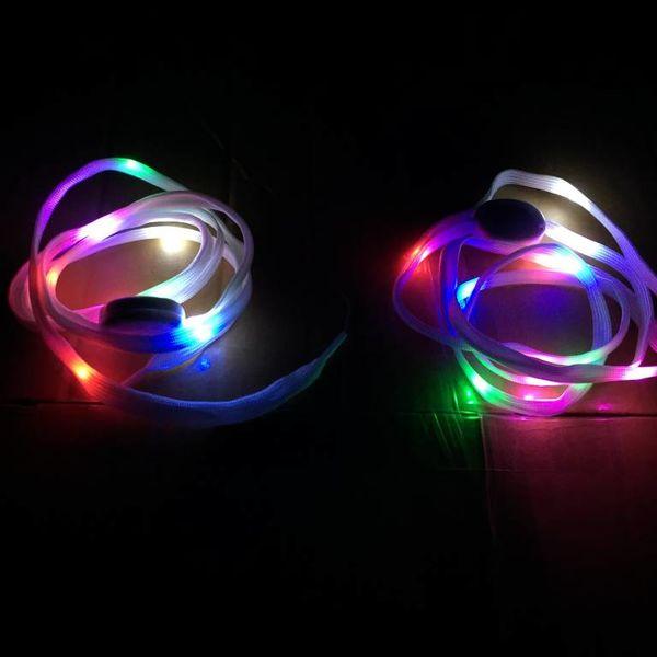 GlowFactory Schnürsenkel mit Licht - Mehrfarbig