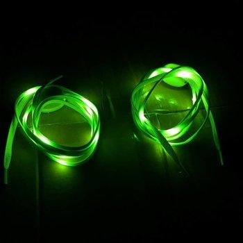 GlowFactory Schnürsenkel mit Licht - Grün