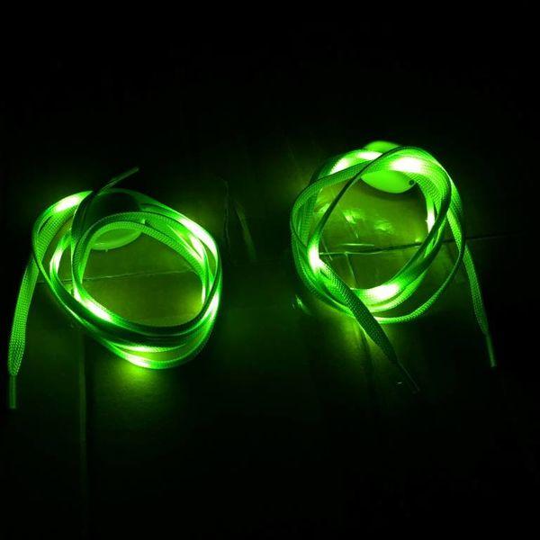 Light Up Shoe Laces / LED Shoe Laces Green