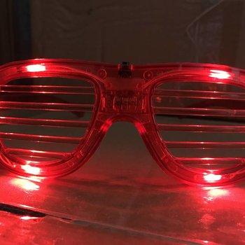 GlowFactory LED Shutter Glasses Red