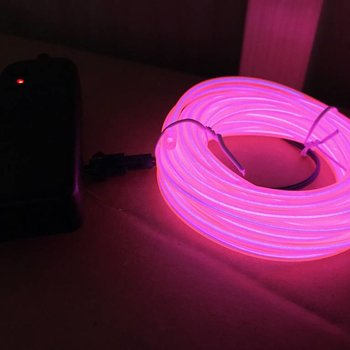 GlowFactory EL Wire 5 meter - Roze