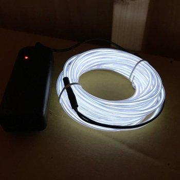 GlowFactory EL-Wire 5 Meter weiß