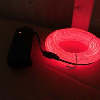 GlowFactory EL Wire 5 meter - Rood