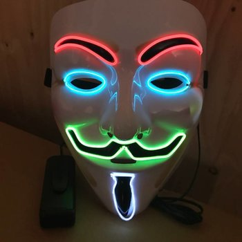 EL Wire Mask Multi Colour