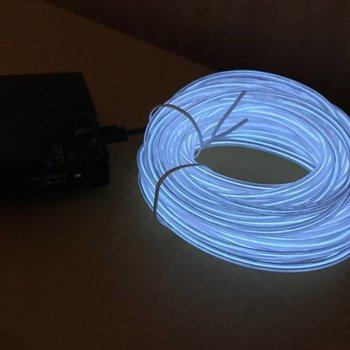 GlowFactory EL Wire 10 meter - Wit