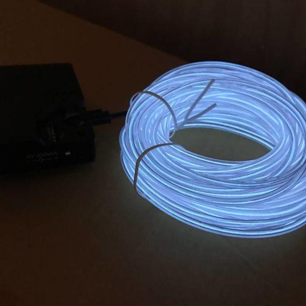 EL-Wire 10 Meter weiß (Bulk)