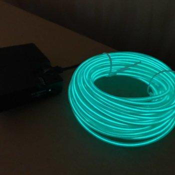 GlowFactory EL Wire 10 meter - Groen