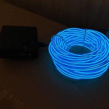GlowFactory EL Wire 10 meter - Blauw