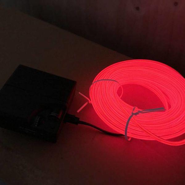EL-Wire 10 Meter rot (Bulk)