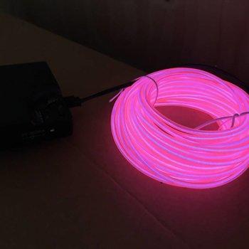 GlowFactory EL Wire 10 meter - Roze