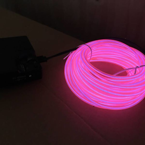 EL Wire 10 meter Pink (Bulk)