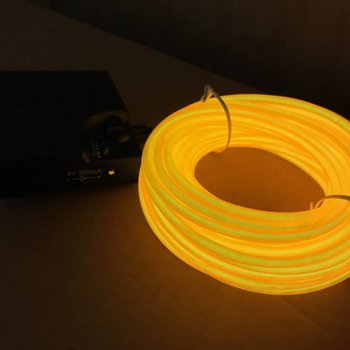 GlowFactory EL Wire 10 meter - Geel