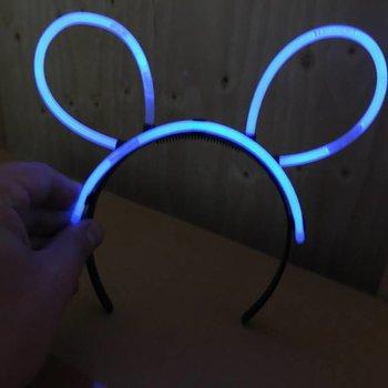 GlowFactory Glow Bunny Diadeem - Zwart