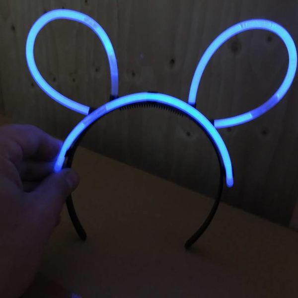 Glow Bunny Ears Connectors Black (Bulk)