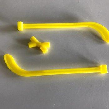 GlowFactory Brillen-Verbinder, X-förmig - Gelb