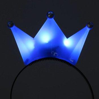 GlowFactory Haarreif mit leuchtender Krone blau