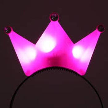 GlowFactory Kroontje met licht - Roze