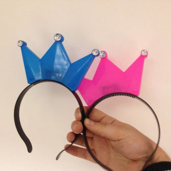 Haarreif mit leuchtender Krone / LED-Haarreif mit Krone in verschiedenen Farben (bulk)