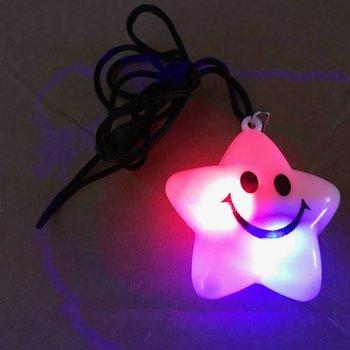 GlowFactory Light Up Necklace Star